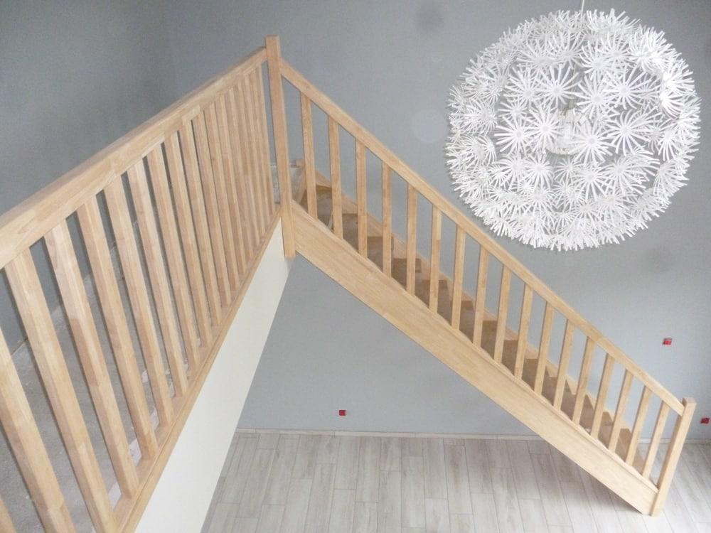Styl'escalier : Gamme Essentielle escalier hévéa avec balustres bois