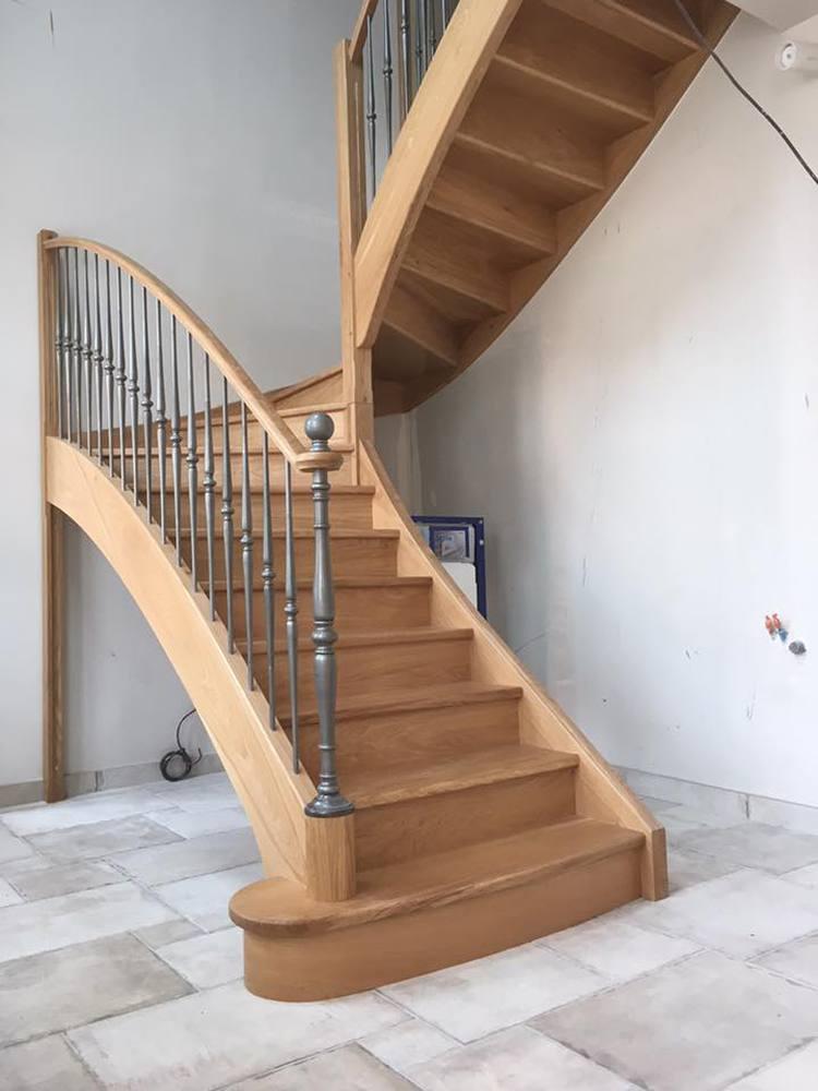 styl'escalier gamme prestige escalier chêne ensemble avec